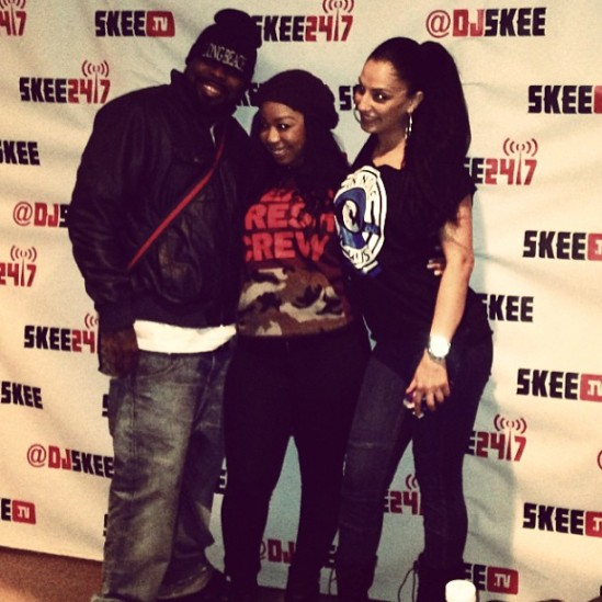 PHOTO: Crooked I, Video Vixen Tokyo, & Co-Host Somayeah Live From The Skee Lodge For C.O.B. Radio
