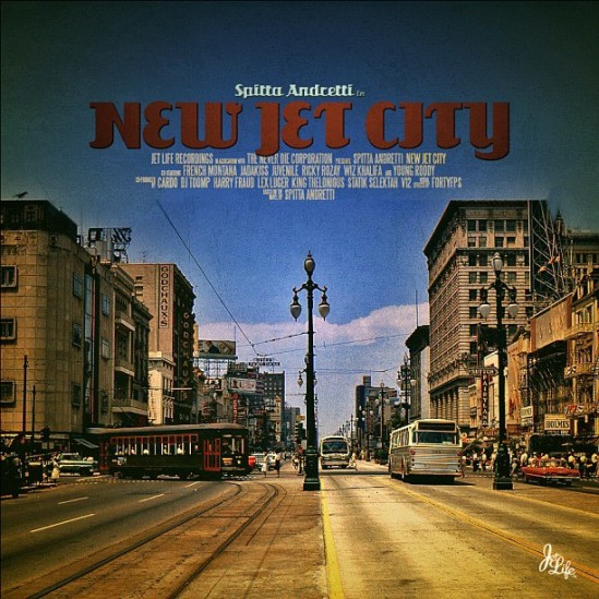 PHOTO: Artwork for Curren$y's upcoming album New Jet City