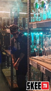 Chris Webby Video Shoot Bongs