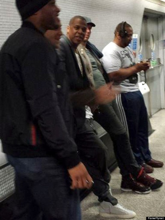 Exclusive... Jay Z Takes Public Transportation to His Concert In London